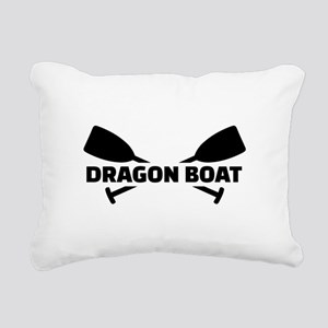 Dragon boat paddles Rectangular Canvas Pillow
