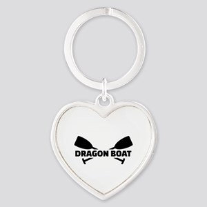 Dragon boat paddles Heart Keychain