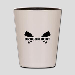 Dragon boat paddles Shot Glass