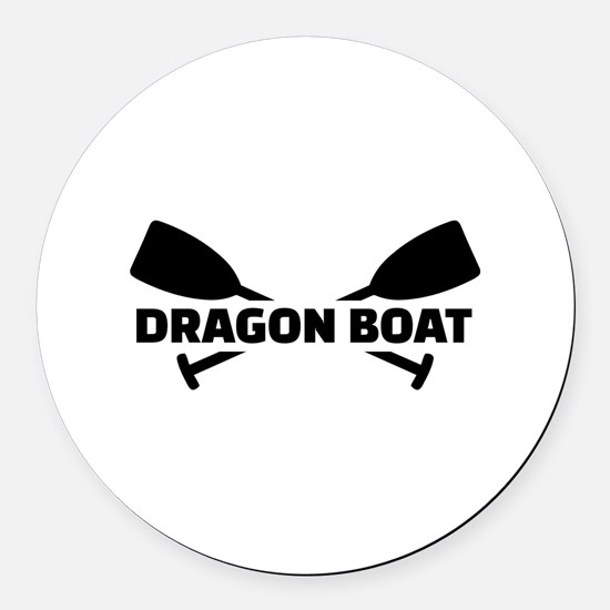 Dragon boat paddles Round Car Magnet