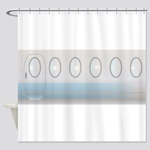 Aircraft Background Shower Curtain