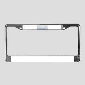 Aircraft Background License Plate Frame