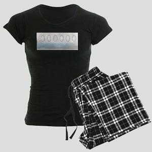 Aircraft Background Women's Dark Pajamas