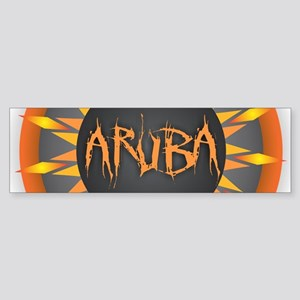 Aruba Hot Sun Bumper Sticker
