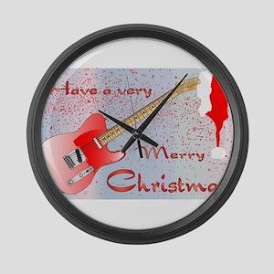 Rocking Christmas Large Wall Clock