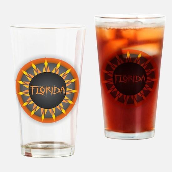 Florida Hot Sun Drinking Glass