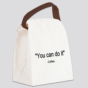 Coffee You can do it! Canvas Lunch Bag