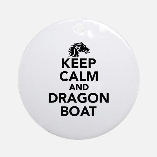 Keep calm and Dragon boat Round Ornament