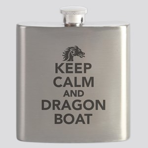 Keep calm and Dragon boat Flask