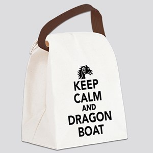 Keep calm and Dragon boat Canvas Lunch Bag