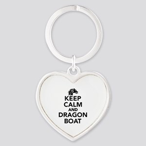 Keep calm and Dragon boat Heart Keychain