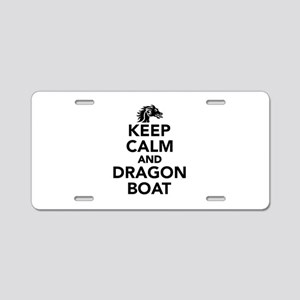 Keep calm and Dragon boat Aluminum License Plate