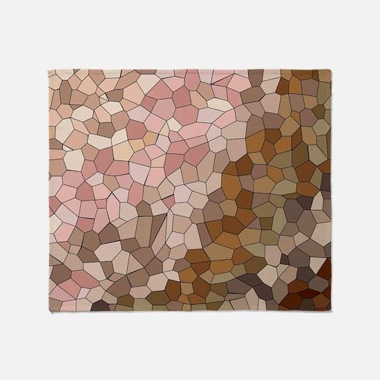 Skin Tone Mosaic Throw Blanket
