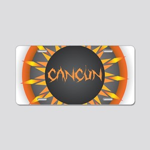 Cancun Hot Sun Aluminum License Plate