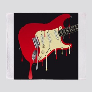 Melting Electric Guitar Throw Blanket