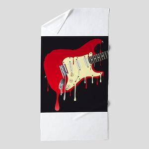 Melting Electric Guitar Beach Towel
