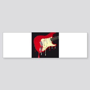 Melting Electric Guitar Bumper Sticker