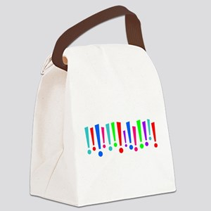 Exclamation Canvas Lunch Bag