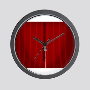 Red Stage Curtain Wall Clock