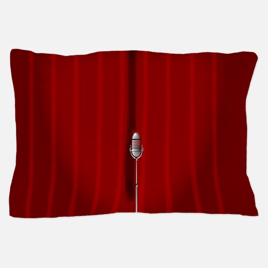 Red Stage Curtain Pillow Case
