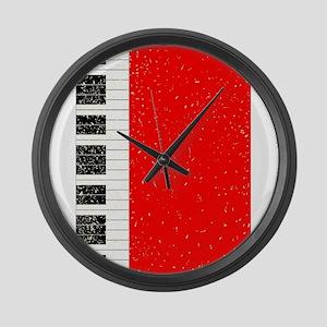 Christmas Piano Large Wall Clock