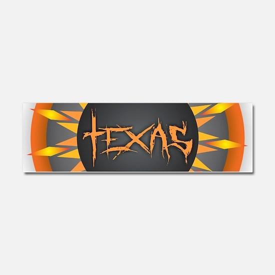 Texas Hot Sun Car Magnet 10 x 3
