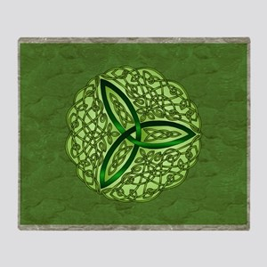 Sage Celtic Trinity Knot Throw Blanket