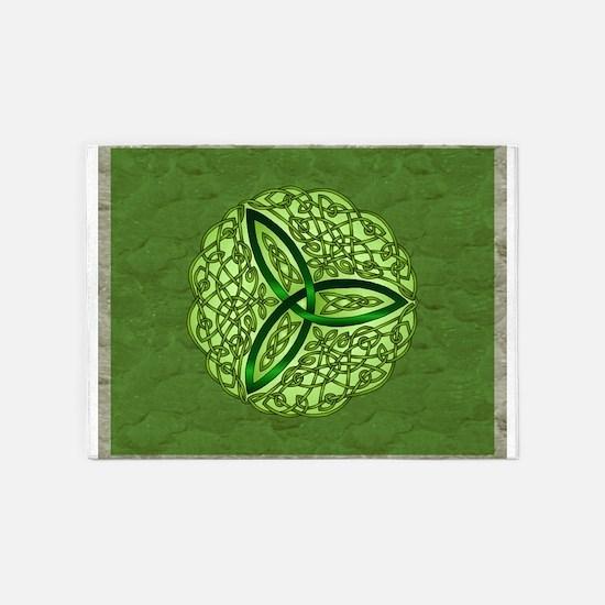 Sage Celtic Trinity Knot 5'x7'Area Rug
