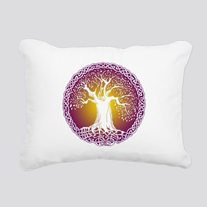 Celtic Tree III Rectangular Canvas Pillow