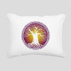 Celtic Tree III Rectangular Canvas Pillow