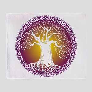 Celtic Tree III Throw Blanket
