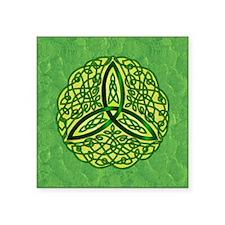 Green Celtic Trinity Knot Sticker