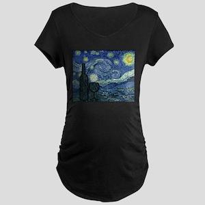 Wine at Night Maternity Dark T-Shirt