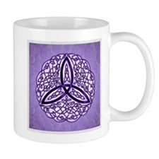 Lavender Celtic Trinity Knot Mugs