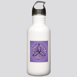 Lavender Celtic Trinity Knot Water Bottle