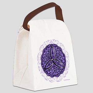 Purple Celtic Trinity Knot Canvas Lunch Bag