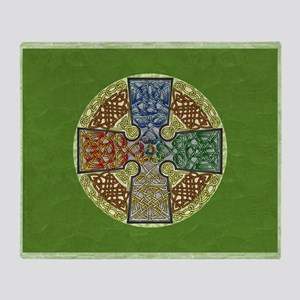 Celtic Cross Elemental Textured Throw Blanket