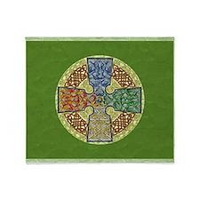 Celtic Cross Elemental Textured Throw Blanket