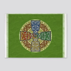 Celtic Cross Elemental Textured 5'x7'Area Rug