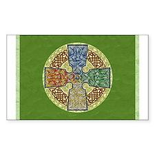 Celtic Cross Elemental Textured Sticker