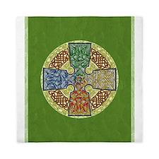 Celtic Cross Elemental Textured Queen Duvet