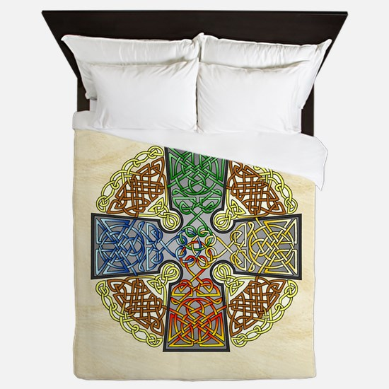 Celtic Cross Elemental Queen Duvet