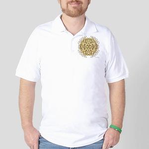 Brown Celtic Art Curls Golf Shirt