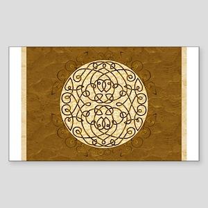 Brown Celtic Art Curls Sticker