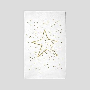 Gold Confetti Star Area Rug