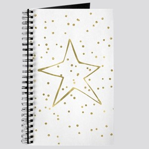 Gold Confetti Star Journal