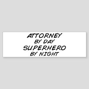 Attorney Superhero Bumper Sticker
