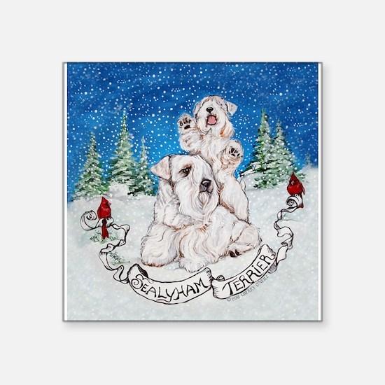 Sealyham Terrier Christmas Sticker
