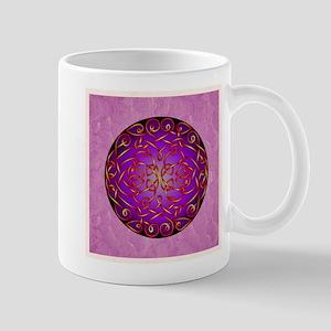 Purple Fire Celtic Art Curls Mugs