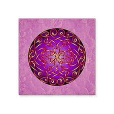 Purple Fire Celtic Art Curls Sticker